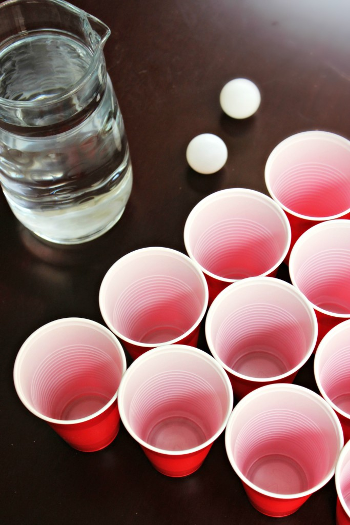Beer Pong with Water