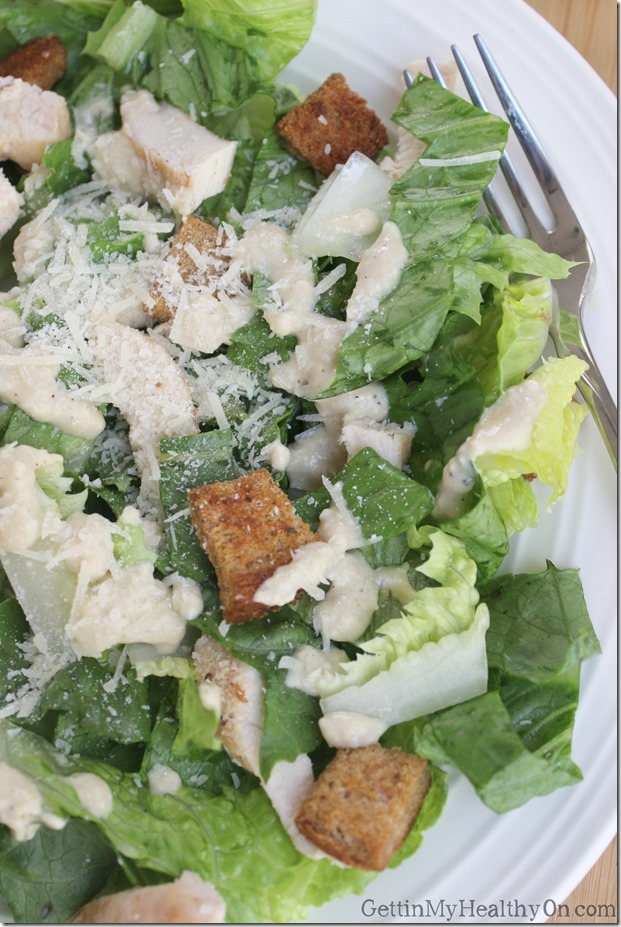 Caesar Salad with Dressing and Croutons