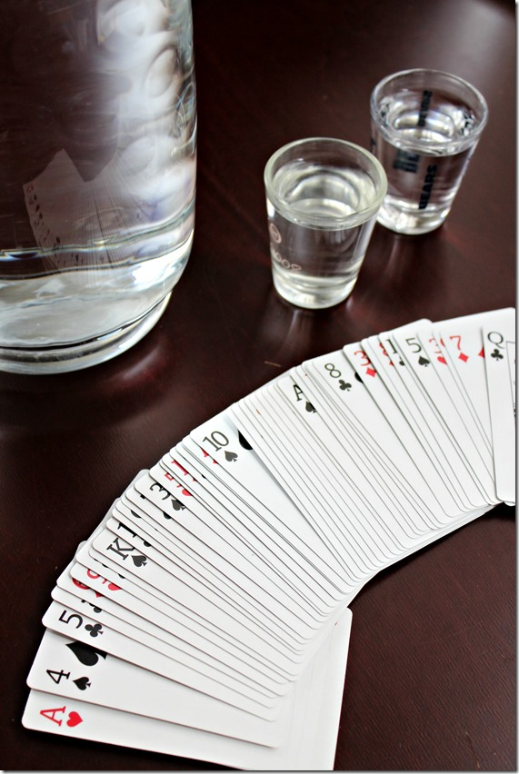 Drinking Card Game Using Water
