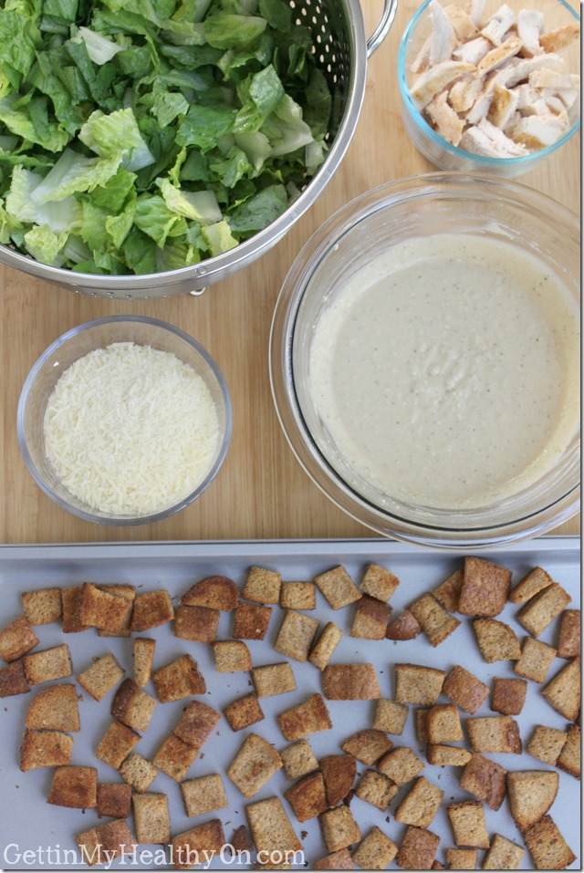 Homemade Caesar Salad with Dressing