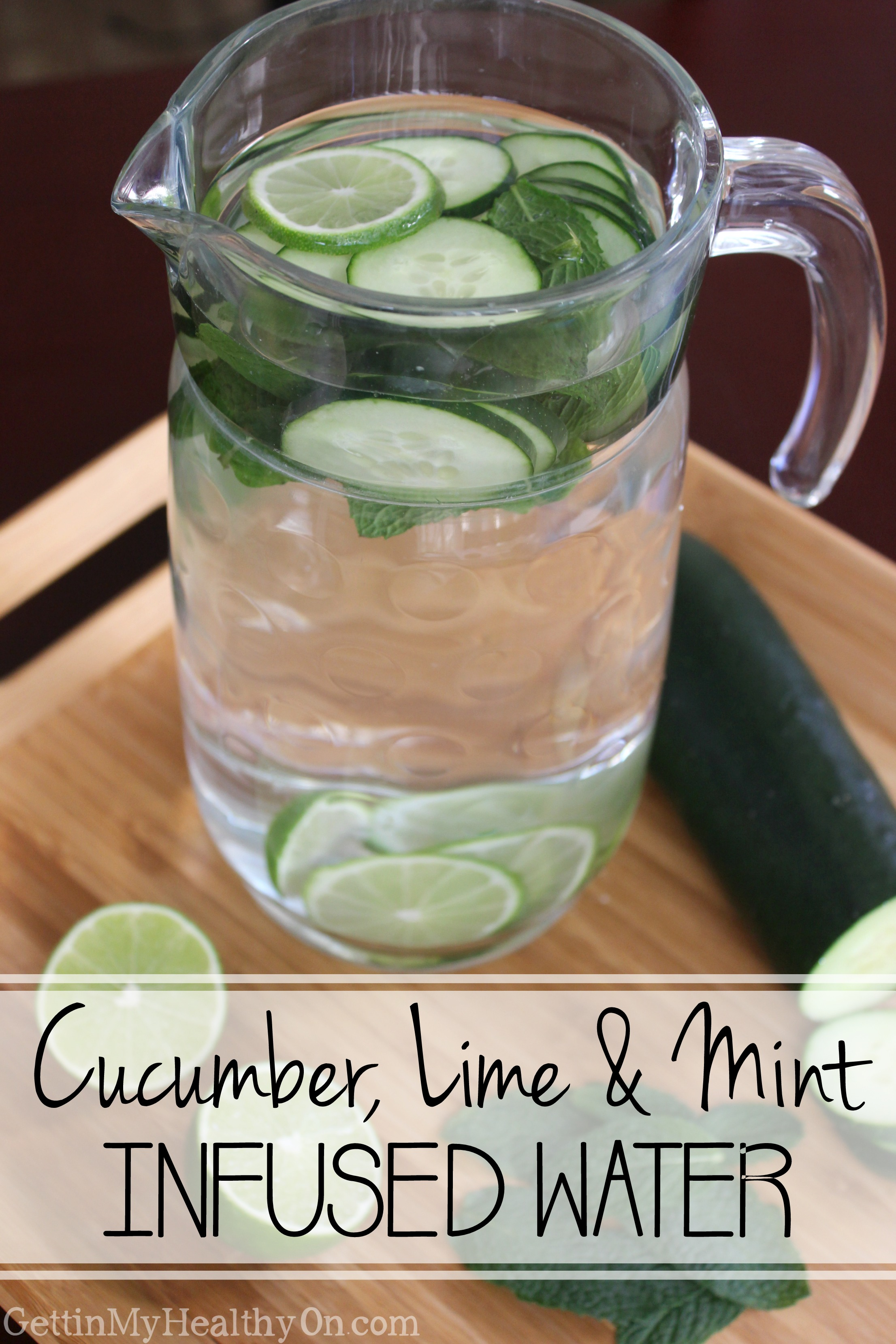 Cucumber, Lime & Mint Infused Water