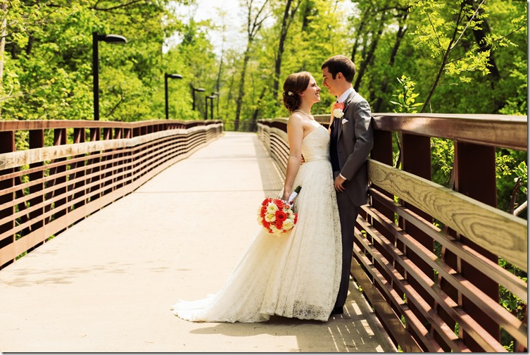 Wedding Picture on the Bridge