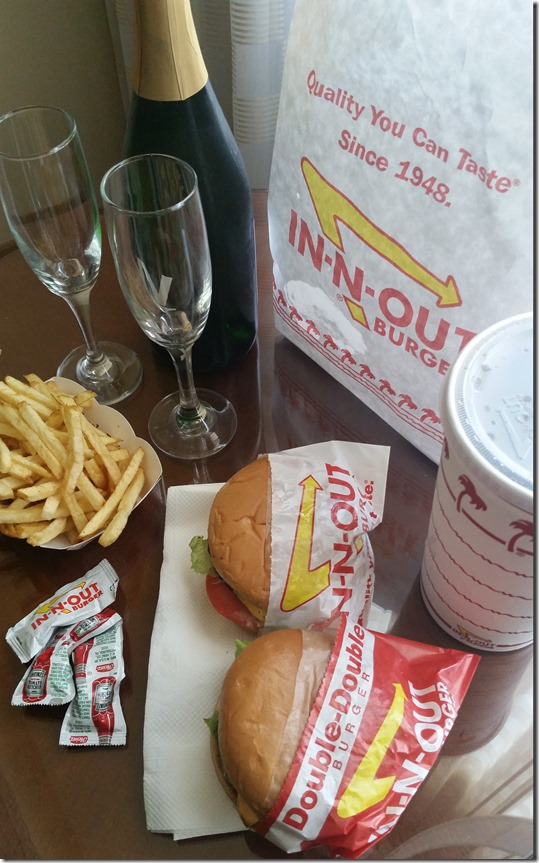 Champagne and In n Out