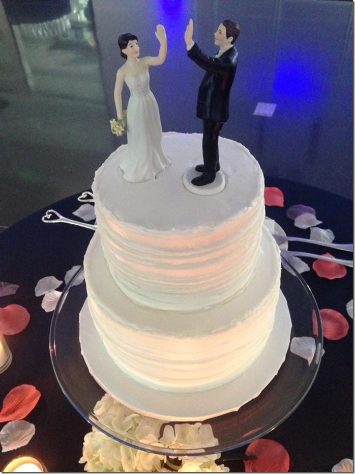 High Fiving Cake Topper Couple