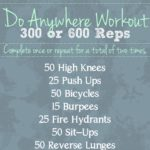Do Anywhere Workout – 300 or 600 Reps