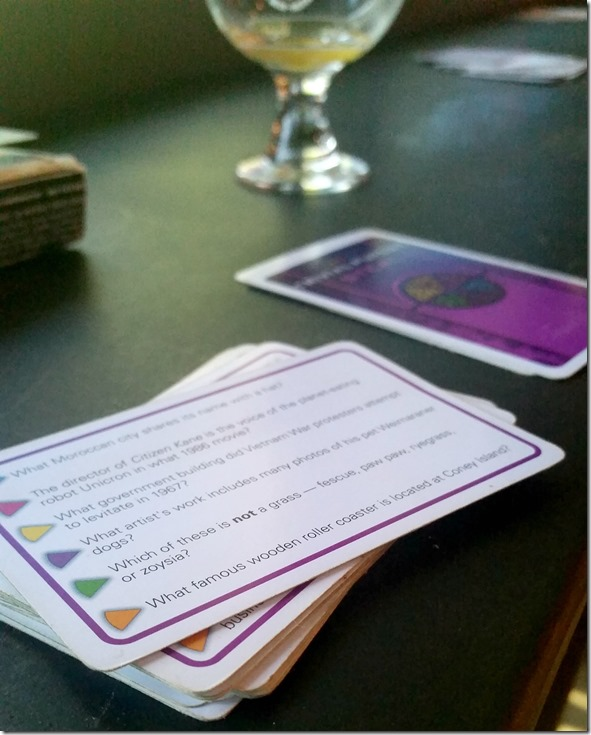 Trivial Pursuit at a Brewery