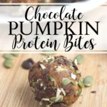 Chocolate Pumpkin Protein Bites