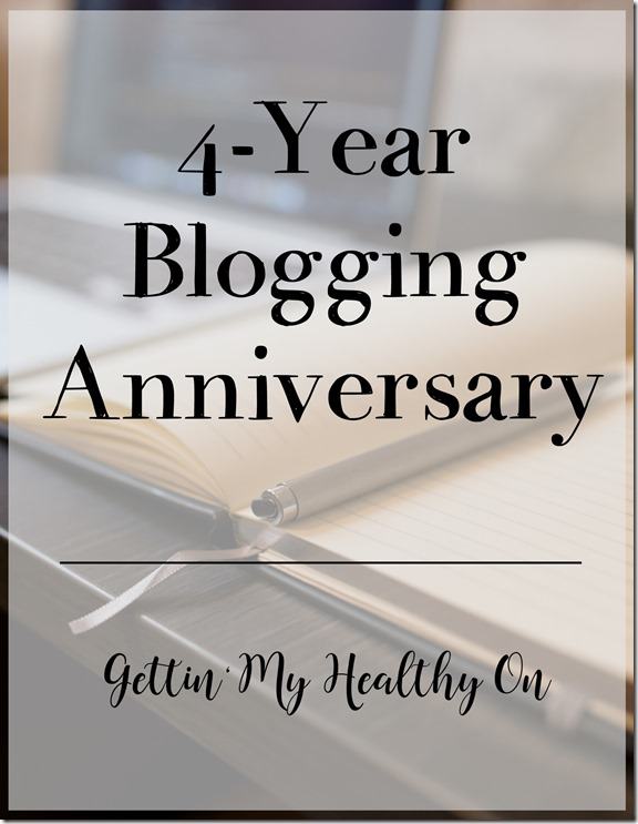 Four Year Blogging Anniversary