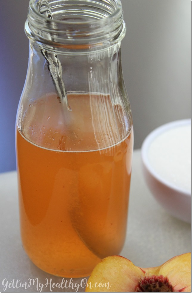 Simple Syrup with Peach