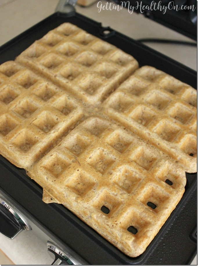 Whole Wheat Waffles with Oats