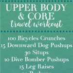 Travel Workout for Upper Body and Core