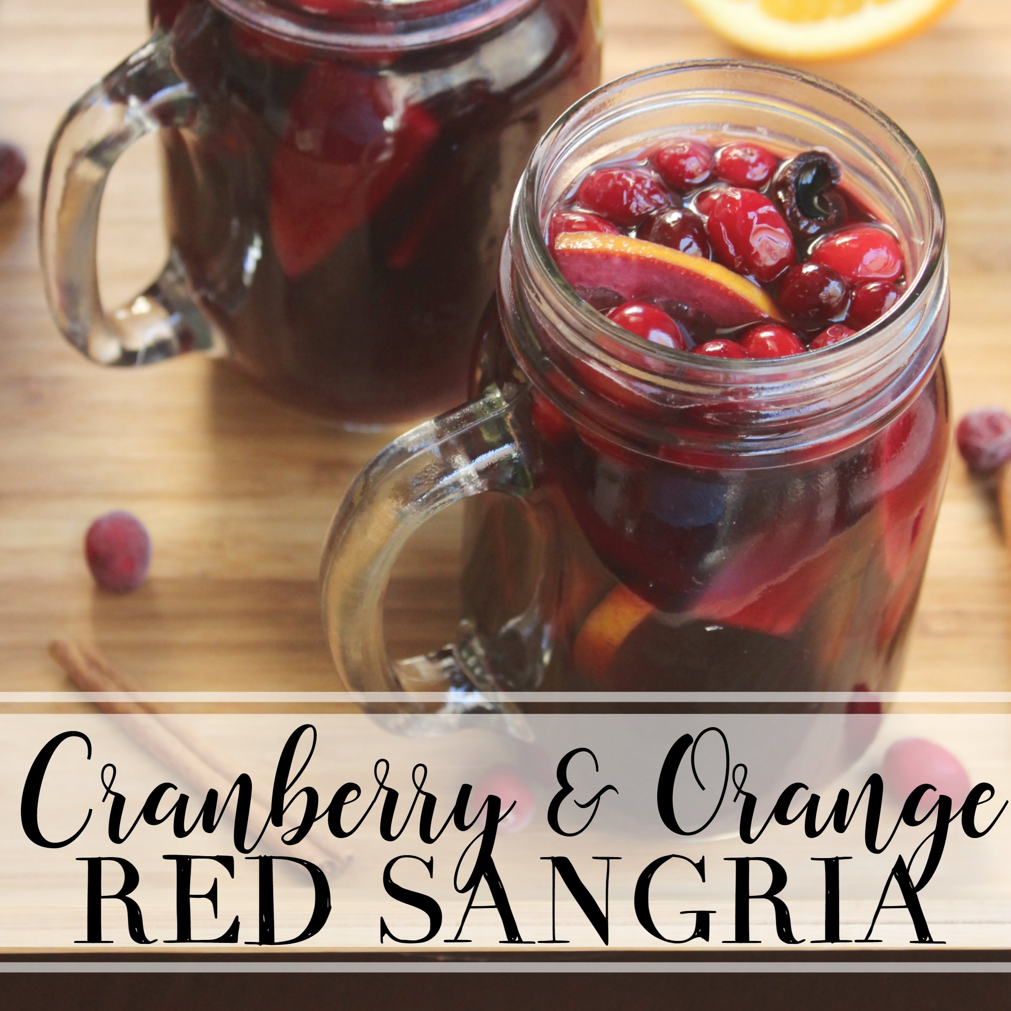 Spiced Cranberry Orange Red Sangria - Gettin' My Healthy On