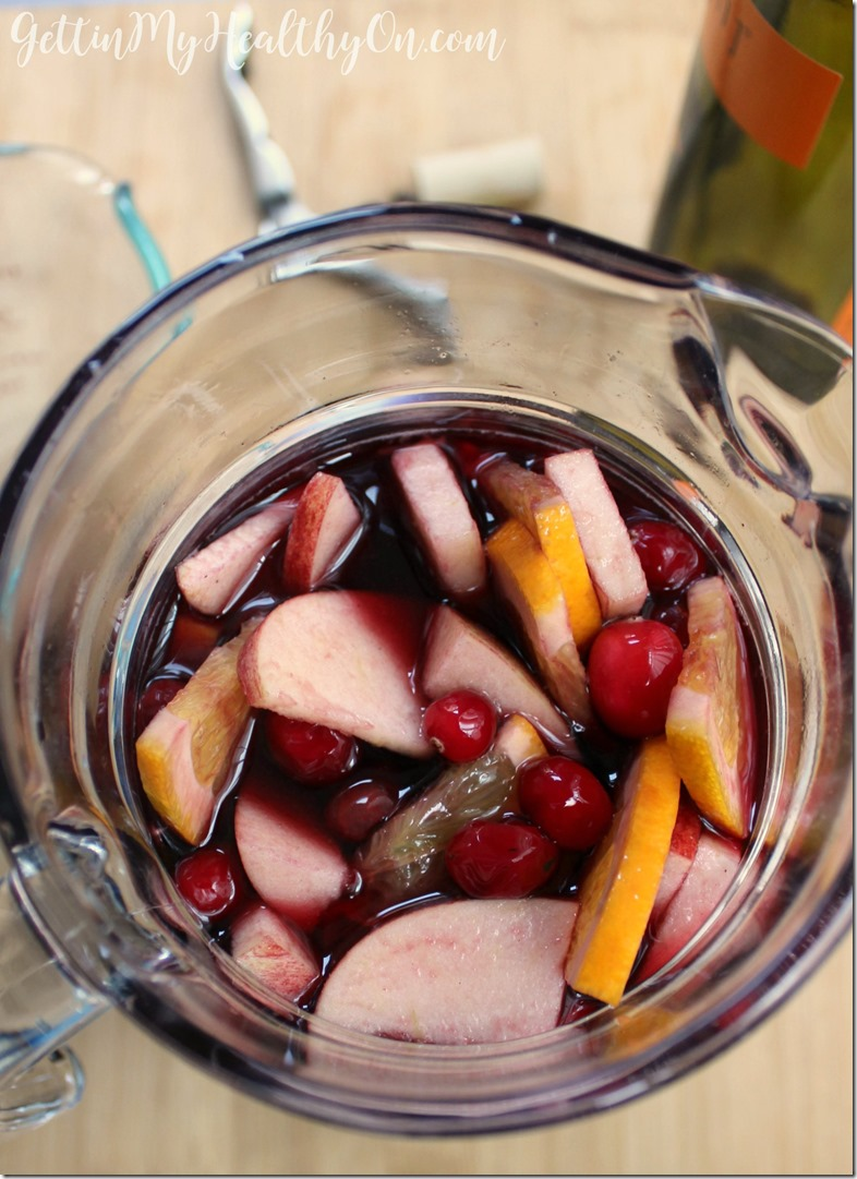 Cranberry and Orange Red Sangria