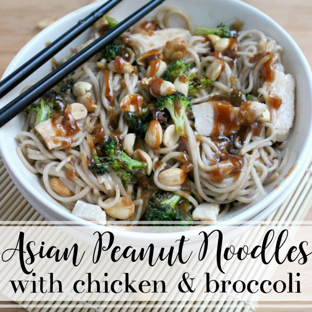 Asian Peanut Noodles with Chicken and Broccoli | Gettin' My Healthy On