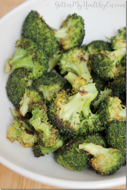 Oven Roasted Broccoli Florets