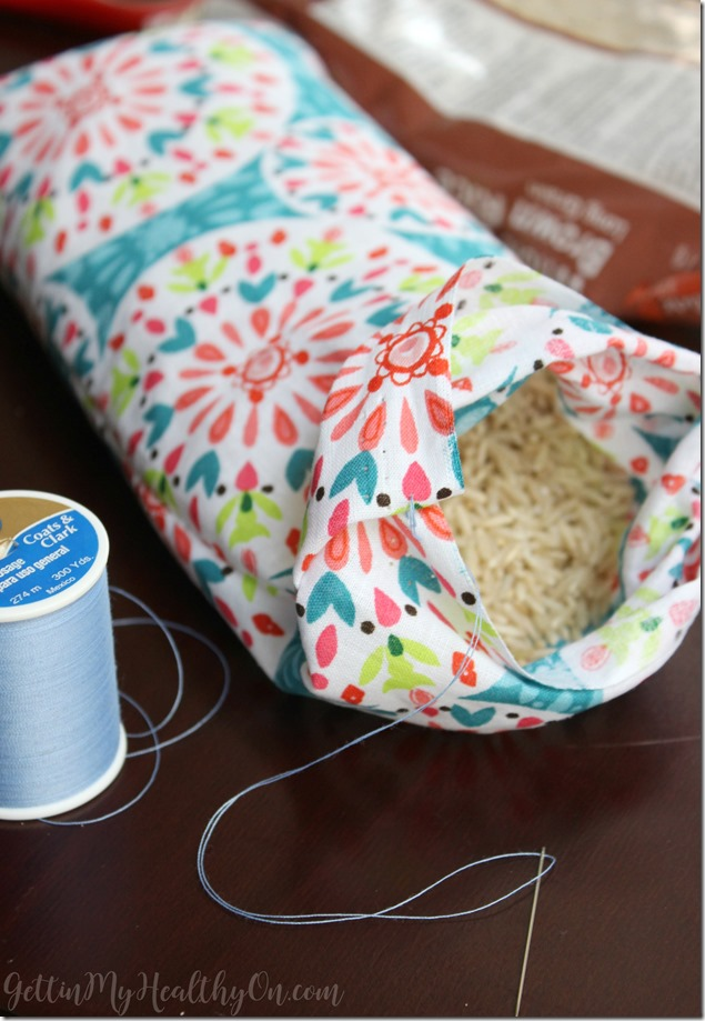 DIY Heating Pad with Rice