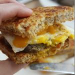 Savory French Toast Sandwich with Sausage and Egg
