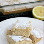 Lemon Protein Cake Bars