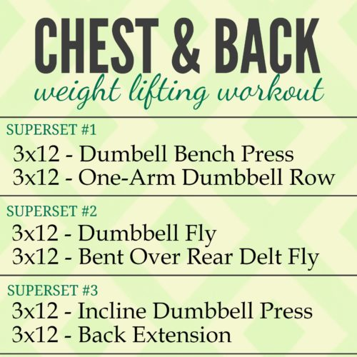 Chest And Back Weight Lifting Workout