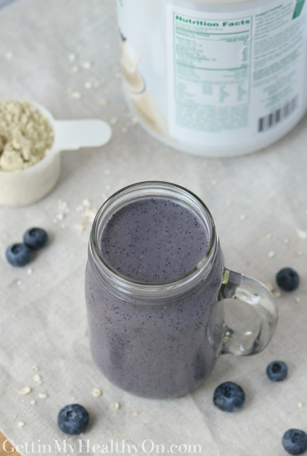 Blueberry Oat Protein Smoothie