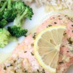 Baked Salmon with Lemon, Garlic & Butter Sauce