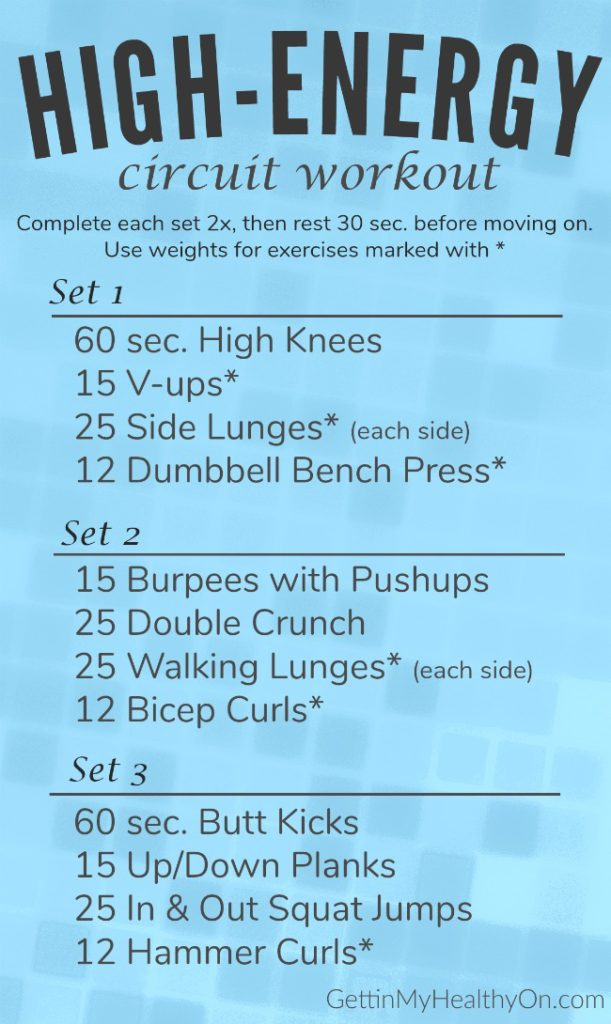 High Energy Circuit Workout