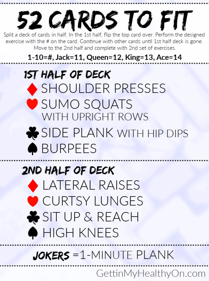 52 Cards To Fit Workout